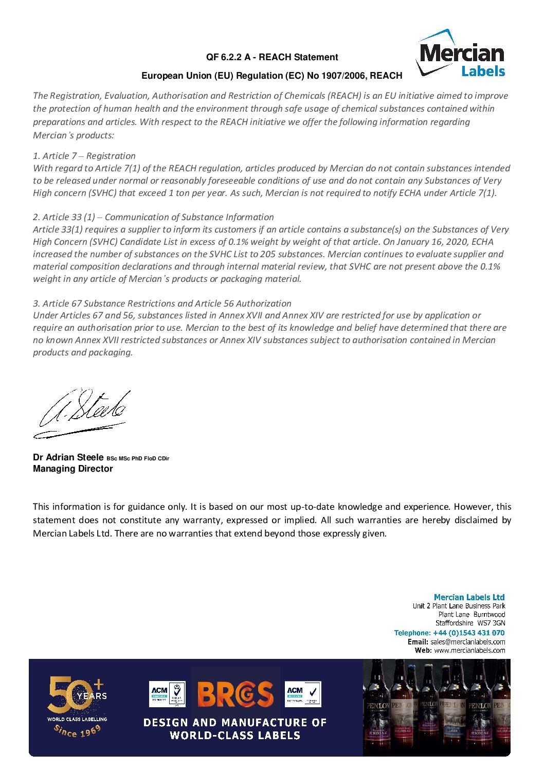 QF 6.2.2 Reach Statement pdf