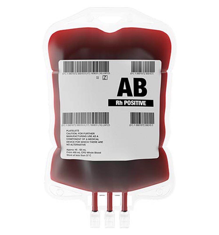 pharma blood bag label