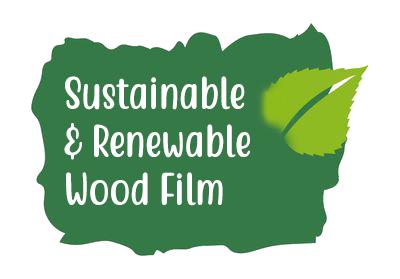 sustainable wood film leaf icon